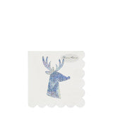 Silver Sparkle Reindeer Napkins - The Pretty Prop Shop Parties, Auckland New Zealand