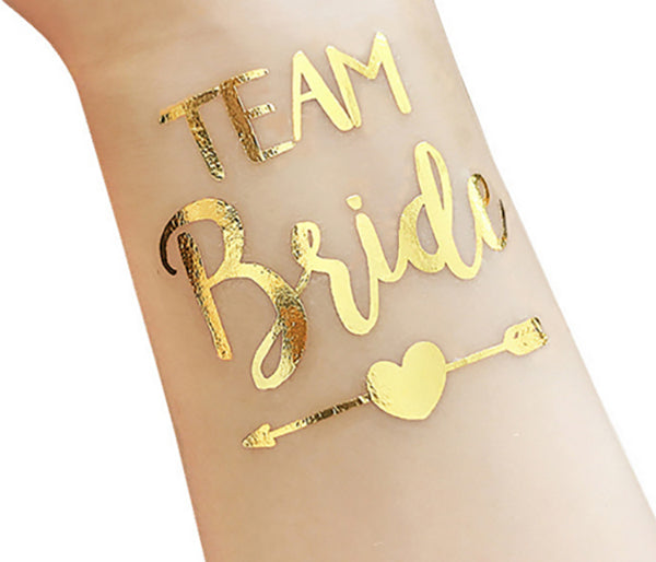 Team Bride Temporary Tattoo - Heart & Arrow Design - The Pretty Prop Shop Parties, Auckland New Zealand