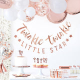 Twinkle Twinkle Rose Gold Paper Napkins - The Pretty Prop Shop Parties, Auckland New Zealand