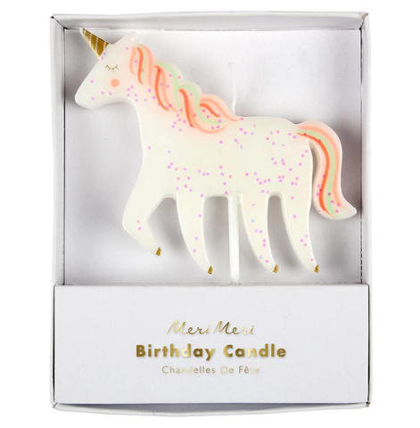Unicorn Glitter Candle - The Pretty Prop Shop Parties, Auckland New Zealand