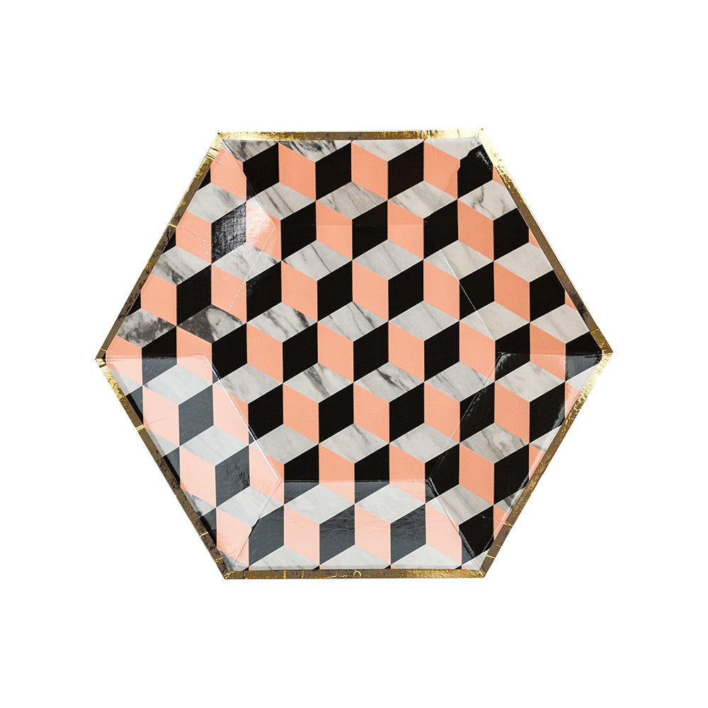 Vanity - Louis Cube Paper Plates - Small - The Pretty Prop Shop Parties, Auckland New Zealand