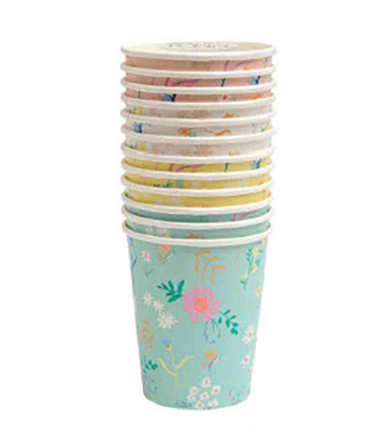 Wildflower Pastel Cups - The Pretty Prop Shop Parties, Auckland New Zealand