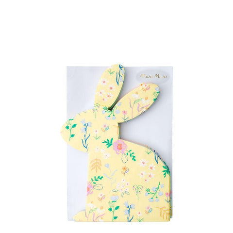 Wildflower Bunny Shaped Napkins - The Pretty Prop Shop Parties, Auckland New Zealand