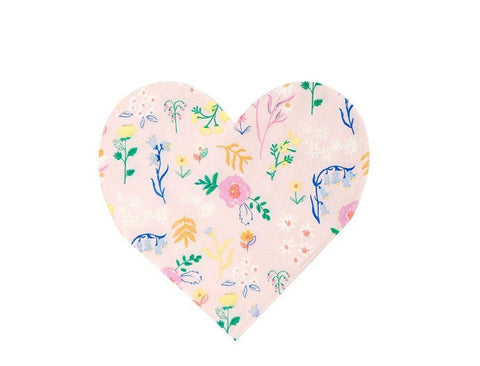 Wildflower Heart Napkin - The Pretty Prop Shop Parties, Auckland New Zealand