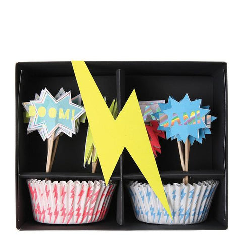Zap! Superhero Cupcake Kit - The Pretty Prop Shop Parties, Auckland New Zealand