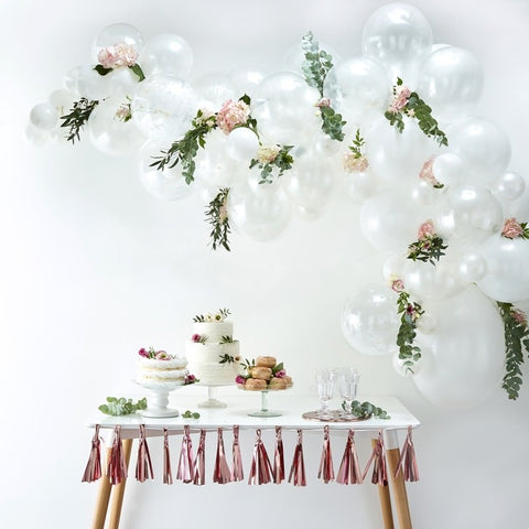 Balloon Arch Kit - White - The Pretty Prop Shop Parties, Auckland New Zealand
