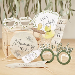 Botanical Photobooth Prop Set - Botanical Baby - The Pretty Prop Shop Parties, Auckland New Zealand