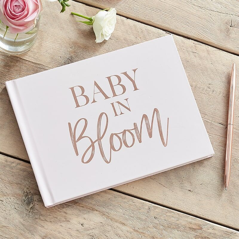 Baby Shower Guest Book - Baby in Bloom