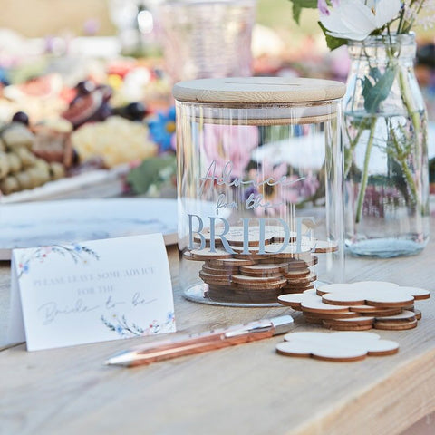 Advice for the Bride Message Jar - Boho Bride Hen Party