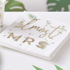 Almost Mrs Napkins - Botanical Hen - The Pretty Prop Shop Parties, Auckland New Zealand