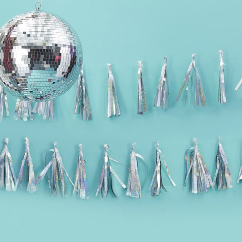 Sparkle Tassel Garland - Iridescent - The Pretty Prop Shop Parties, Auckland New Zealand