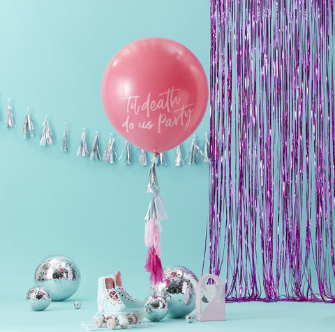 Giant Pink Til Death Do Us Party Balloon Kit - The Pretty Prop Shop Parties, Auckland New Zealand