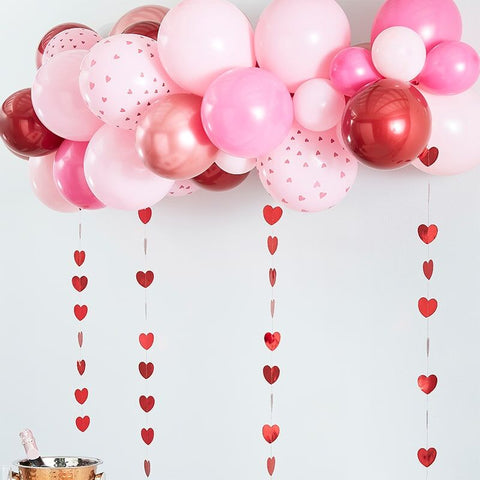 Rose Gold, Pink & Red Balloon Arch Kit
