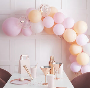 Matte Peach and Pink Balloon Arch Kit - Blush Hen Party - The Pretty Prop Shop Parties, Auckland New Zealand