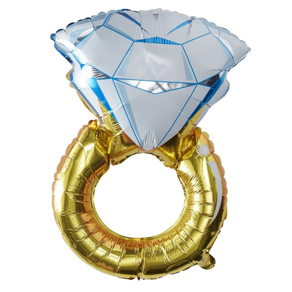 I Do Crew Foil Ring Balloon - The Pretty Prop Shop Parties, Auckland New Zealand