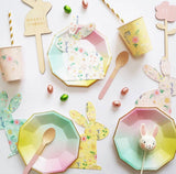 Ombre Paper Plates - The Pretty Prop Shop Parties, Auckland New Zealand