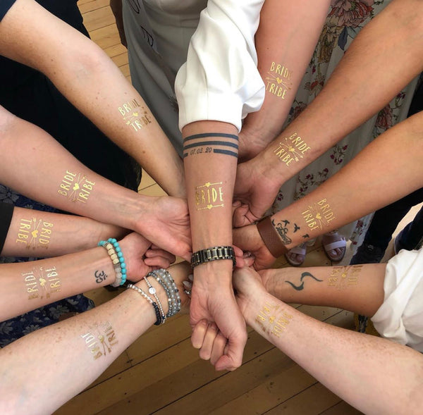Hen's Party Temporary Tattoo - Gold - The Pretty Prop Shop Parties, Auckland New Zealand