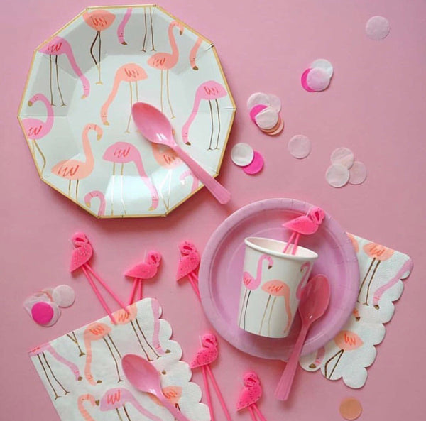 Flamingo Plates - The Pretty Prop Shop Parties, Auckland New Zealand