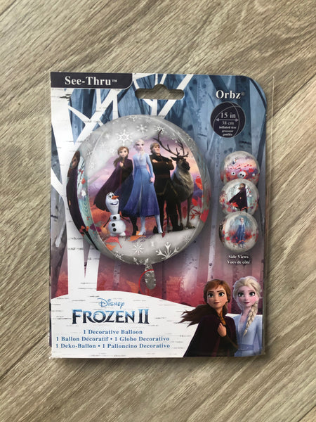 Frozen 2 Clear Orbz XL Balloon - The Pretty Prop Shop Parties, Auckland New Zealand
