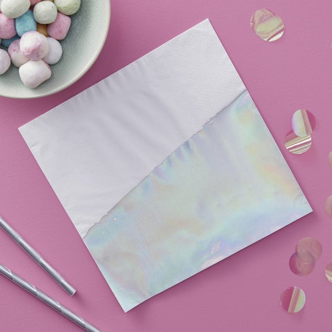 Iridescent Dipped Paper Napkins - The Pretty Prop Shop Parties, Auckland New Zealand