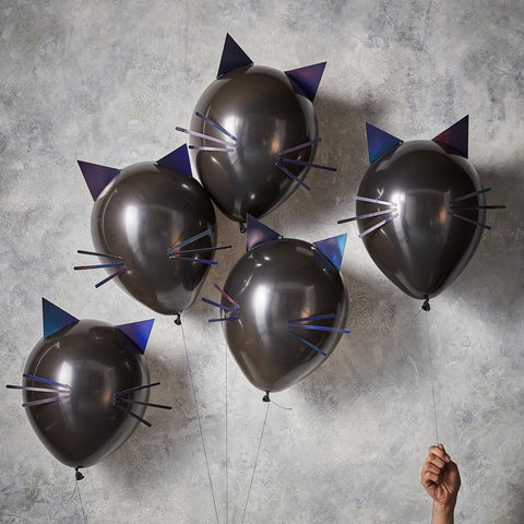 Cat Halloween Party Balloons - The Pretty Prop Shop Parties, Auckland New Zealand