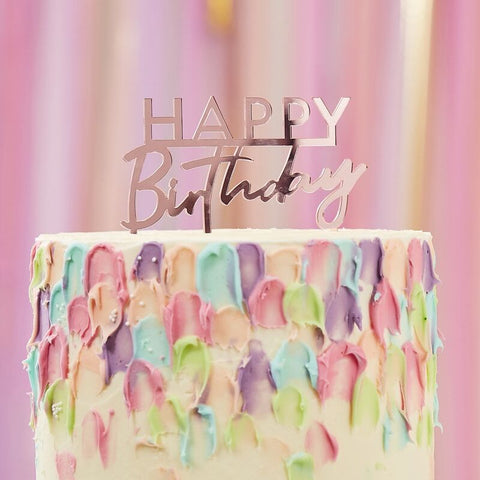 Happy Birthday Pink Cake Topper - The Pretty Prop Shop Parties, Auckland New Zealand
