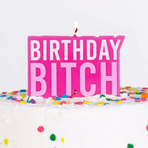 Birthday B***ch Candle - The Pretty Prop Shop Parties, Auckland New Zealand