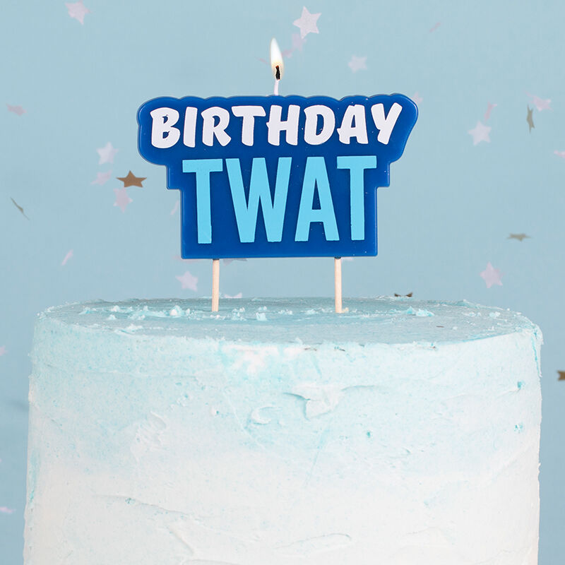 Birthday Twat Cake Candle