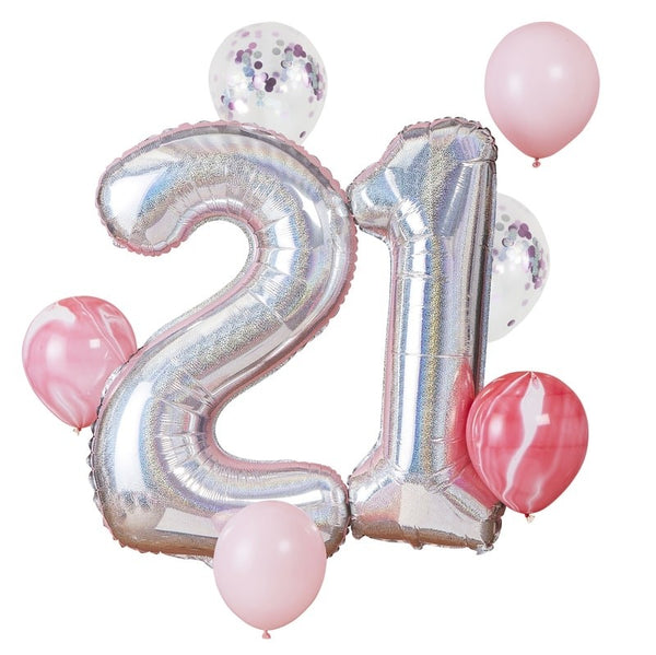 21st Birthday Balloon Bundle - The Pretty Prop Shop Parties, Auckland New Zealand