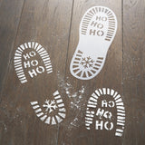 Festive Santa Foot Print Stencil - The Pretty Prop Shop Parties, Auckland New Zealand