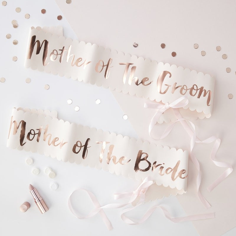 Mother of the Bride and Groom Sash Set/2 - Team Bride - The Pretty Prop Shop Parties, Auckland New Zealand