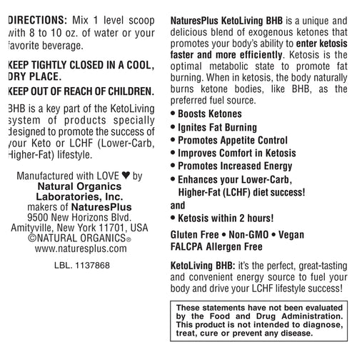 KetoLiving BHB Berry Lemonade Drink Mix
