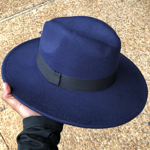 Fedora Hat (Navy Blue)