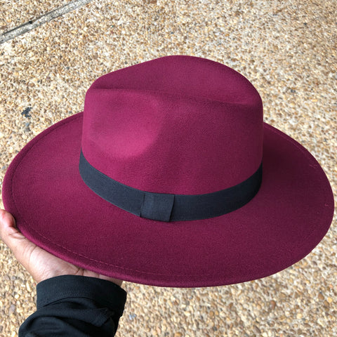 Fedora Hat (Wine)