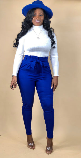 Stylish Diva Pants (Royal Blue)
