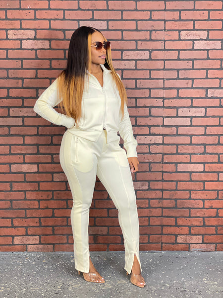 Bold Moves Tracksuit (Cream)