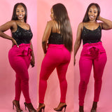 Stylish Diva Pants (Hot Pink)