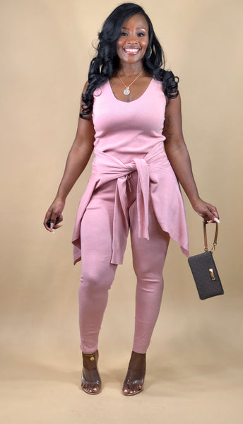 Michelle 3 Piece Knit Set (Pink)