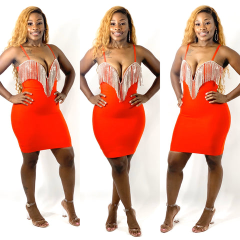 Came Through Drippin Bandage Dress (Red)