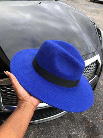Fedora Hat (Royal Blue)