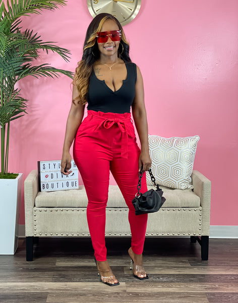 Luxe Diva Pants (Red)