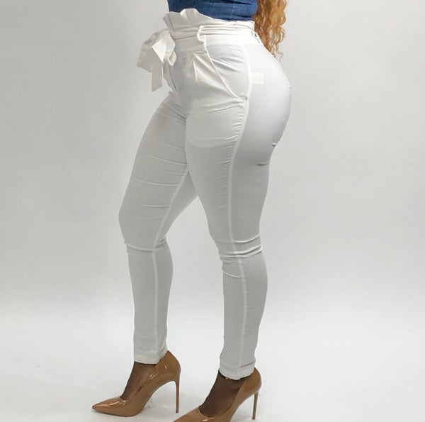 Stylish Diva Pants (White)