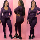 On The Run Chill Legging Set (Deep Purple)