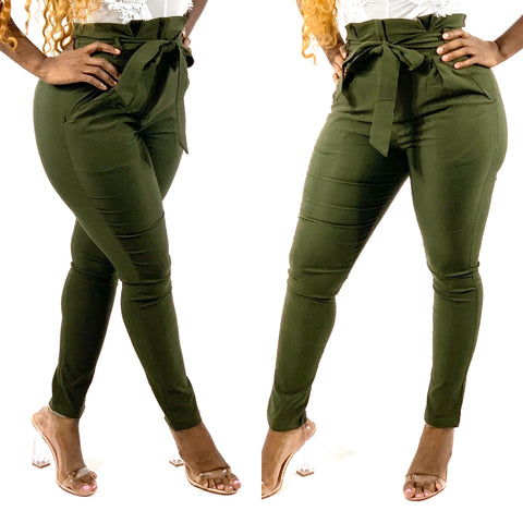 Stylish Diva Pants (Olive)