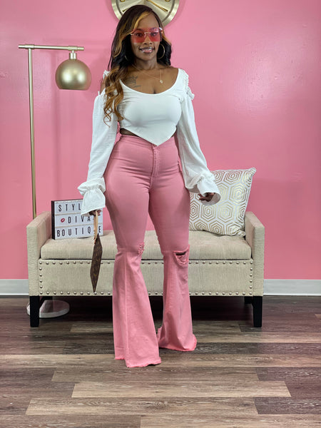 In My Flare 2 Jeans (Pink)