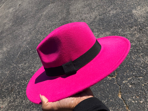 Fedora Hat (Hot Pink)