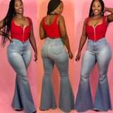 In My Flare Jeans (Light) - PLUS SIZE