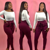 Stylish Diva Pants (Burgundy)