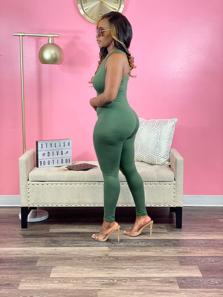 Talk of the Party Jumpsuit (Green)