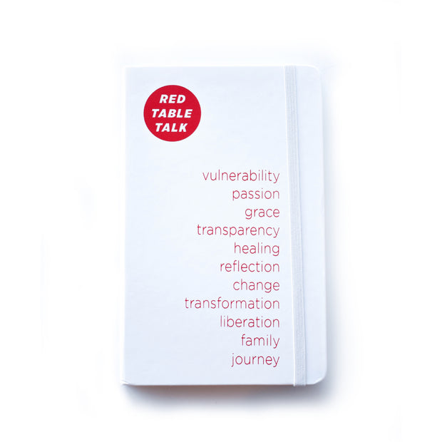 Red Table Talk Journal - White